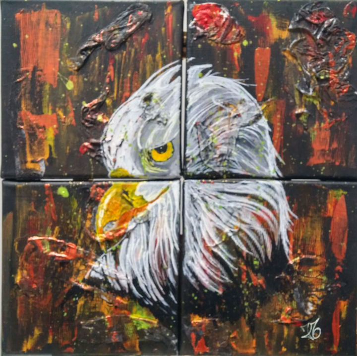 """Painting titled """"jugement"""" by Julie Maryline, Original Art, Acrylic"""