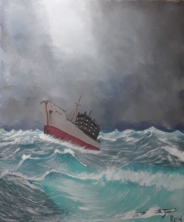 """Painting titled """"Lost In the Storm"""" by Julie Reid, Original Art, Acrylic"""