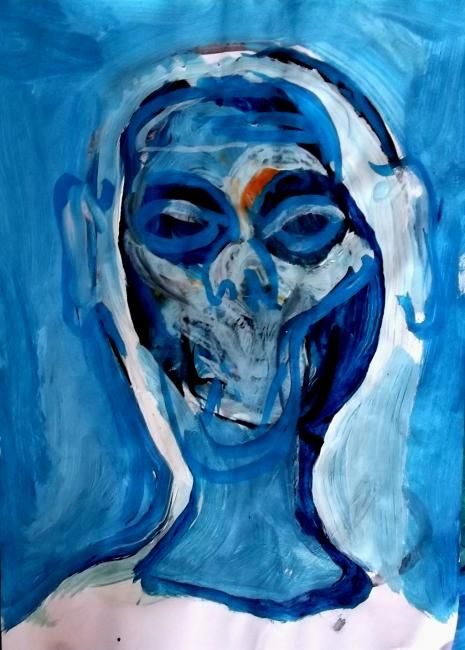 woman with character - Painting ©2012 by Juris Libeks -