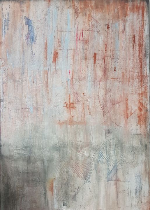 Dirty - Painting,  39.4x27.6x1.6 in ©2018 by Jutta Christandl -                                        Abstract Art, Abstract Art