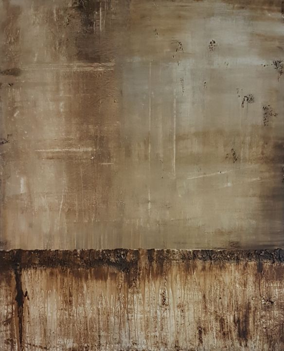 brown1 - Painting,  47.2x39.4x0.8 in ©2018 by Jutta Christandl -                                        Abstract Art, Abstract Art