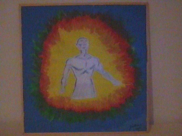 """Painting titled """"Energy of man"""" by Doc Willy, Original Art,"""