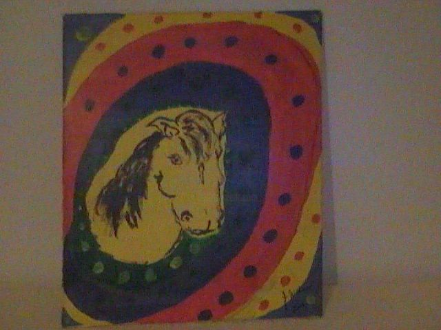 """Painting titled """"Pony Marage"""" by Doc Willy, Original Art,"""