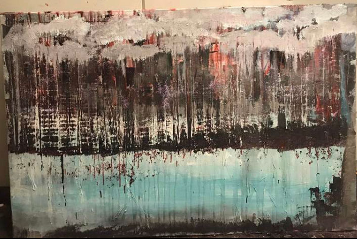 """Painting titled """"Lost"""" by Erfiart, Original Art, Acrylic"""