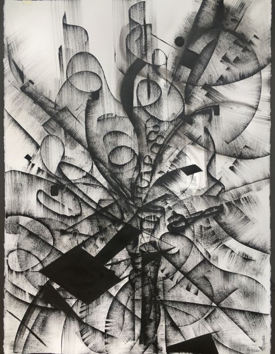 black and white abstract drawing 4 khrystyna kozyuk
