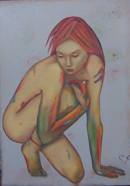 Instinct primaire - Painting,  28x22 in ©2012 by k-let -