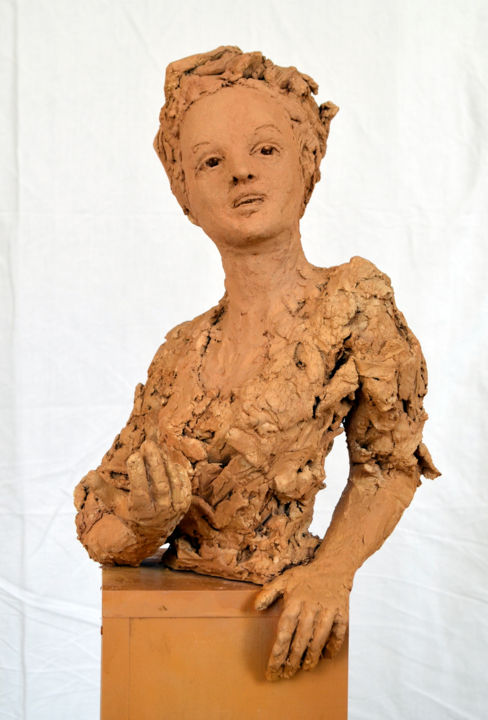 Olympe de Gouges - Sculpture ©2015 by KAINOU -                                            Figurative Art, Portraits, Portrait Olympe de Gouges, Sculpture Olympe de Gouges, Buste Olympe de Gouges