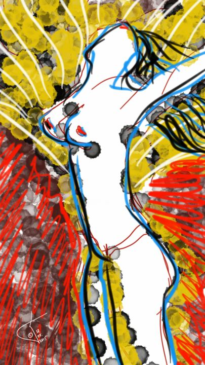 Le Bonheur féminin - Digital Arts ©2015 by Kakha KOLKHI -                                                                                                                        Abstract Art, Abstract Expressionism, Other, Abstract Art, Body, Colors, Women, Nude, women, nue, femme, abstract, art numérique, digital art