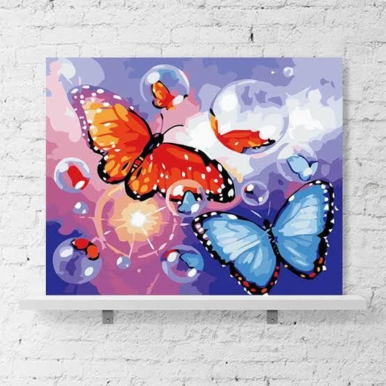 """Painting titled """"Colourful butterfli…"""" by Faria Begam Faria Begam, Original Art, Watercolor"""
