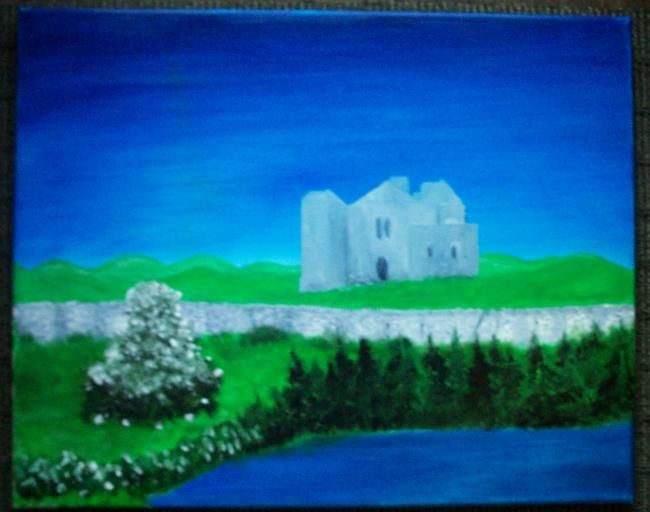 King Kane's castle - Painting,  0.4 in, ©2007 by Kane -