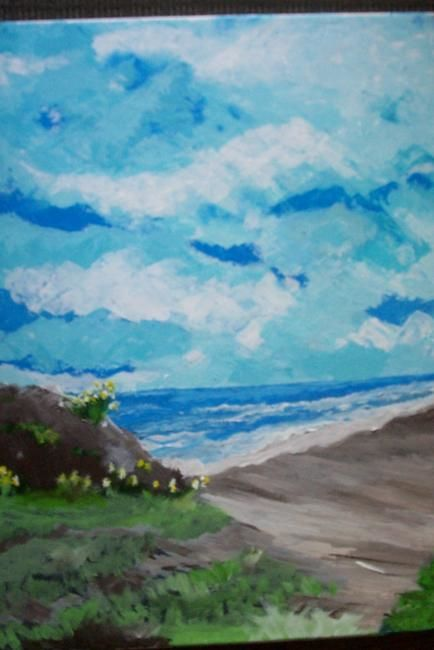 gassy beach - Painting,  0.4 in, ©2007 by Kane -