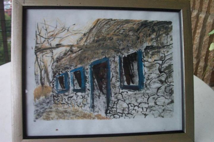 rock cabin - Painting,  0.4 in, ©2006 by Kane -