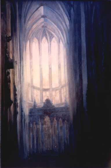 """Painting titled """"Gothic-2"""" by Kal Opre, Original Art, Oil"""