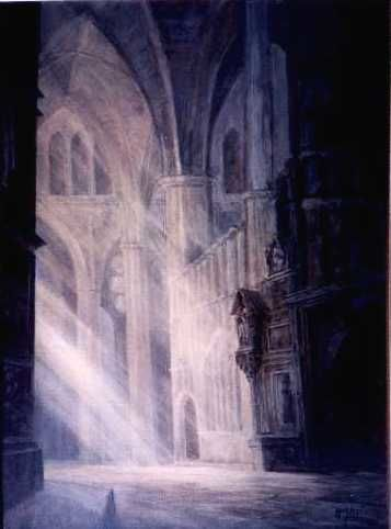 """Painting titled """"Gothic-3"""" by Kal Opre, Original Art, Oil"""