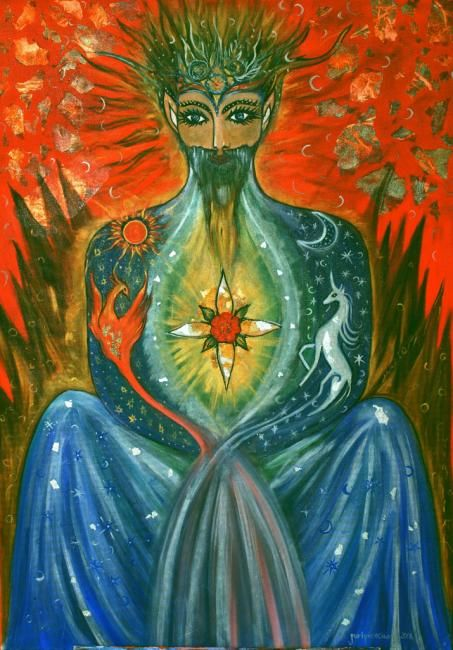 """Painting titled """"The High Priest"""" by Karisma, Original Art, Other"""