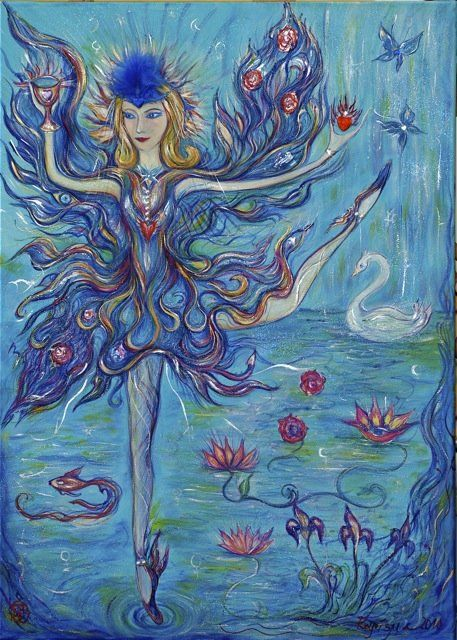 Butterfly Goddess - Painting,  70x50 cm ©2010 by Karisma -