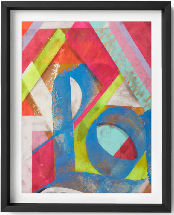 Printmaking, digital print, abstract, artwork by Karlos Marquez