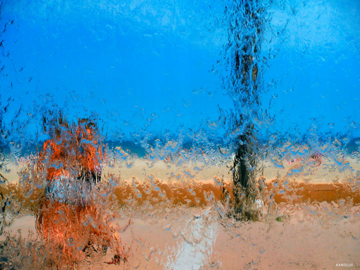 03-Les gens - Trois jeunes filles - Photography, ©2016 by Karolus -                                                                                                                                                                                                                                                                                                              Abstract, abstract-570, Abstract Art, Colors, Water, People