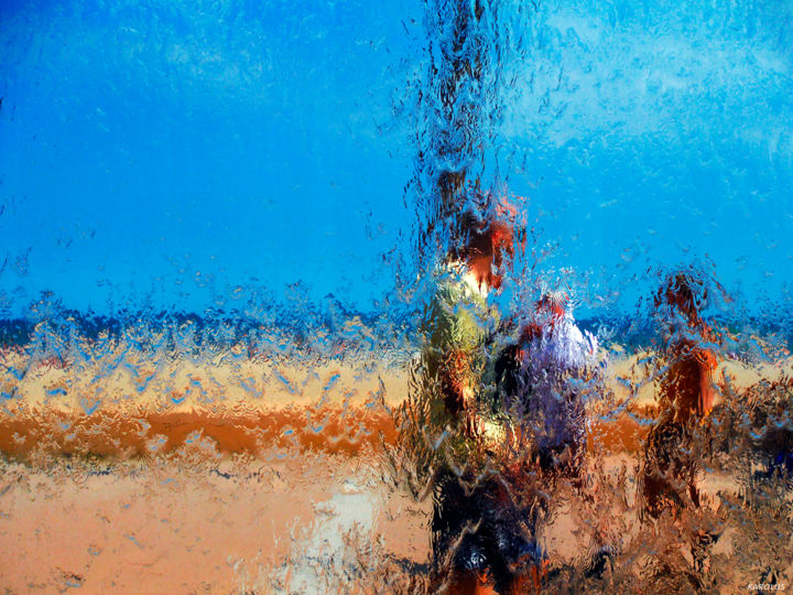 05-Les gens - Palabres - Photography, ©2016 by Karolus -                                                                                                                                                                                                                                                                                                              Abstract, abstract-570, Abstract Art, Colors, Water, People