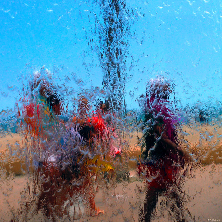 07-Les-gens - Touristes étrangers - Photography ©2016 by KAROLUS -                                                                            Abstract Expressionism, Abstract Art, Colors, Water, People