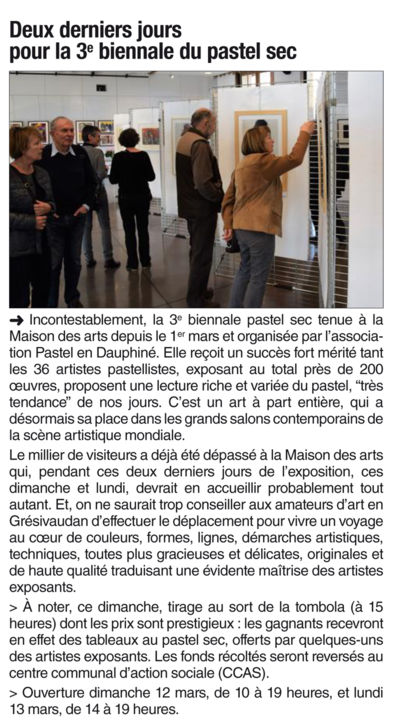Article Dauphiné Libéré dimanche 12 mars 2017 - Events / Personal Photos, ©2017 by Karolus -