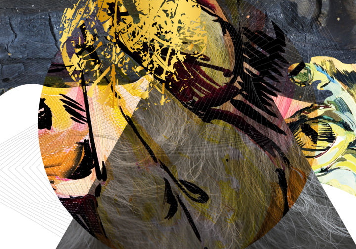 Textural natural abstractions / Free Shipping - Collages,  27.6x39.4x0.1 in, ©2019 by Olya Kartavaya -                                                                                                                                                                                                                                                                                                                                                                                                                                                      Abstract, abstract-570, Beach, Nature, nature, collage, dijital, dijital nature, dark