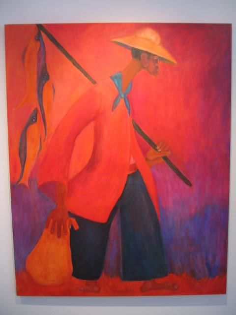 """Painting titled """"Evening Catch"""" by Kate Toussaint, Original Art, Oil"""