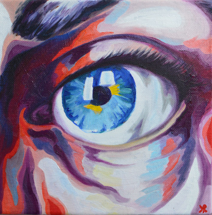 """Painting titled """"EYE COLOUR STUDY #1"""" by Kate Revill, Original Art, Oil"""