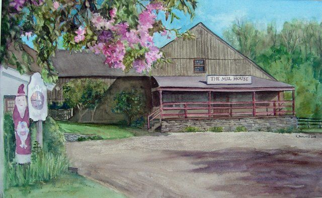 """Painting titled """"Springtime at the B…"""" by Katherine Berlin, Original Art,"""