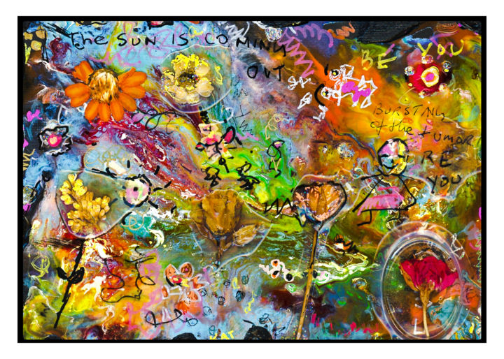 """Painting titled """"The Sun Always come…"""" by Kathi Halickman, Original Art, Collages"""