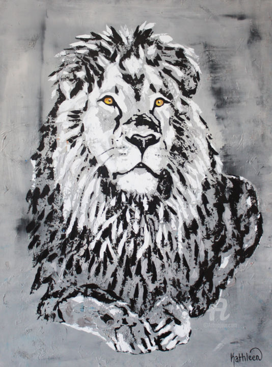 The King Lion Cecil Painting By Kathleen Artist Artmajeur