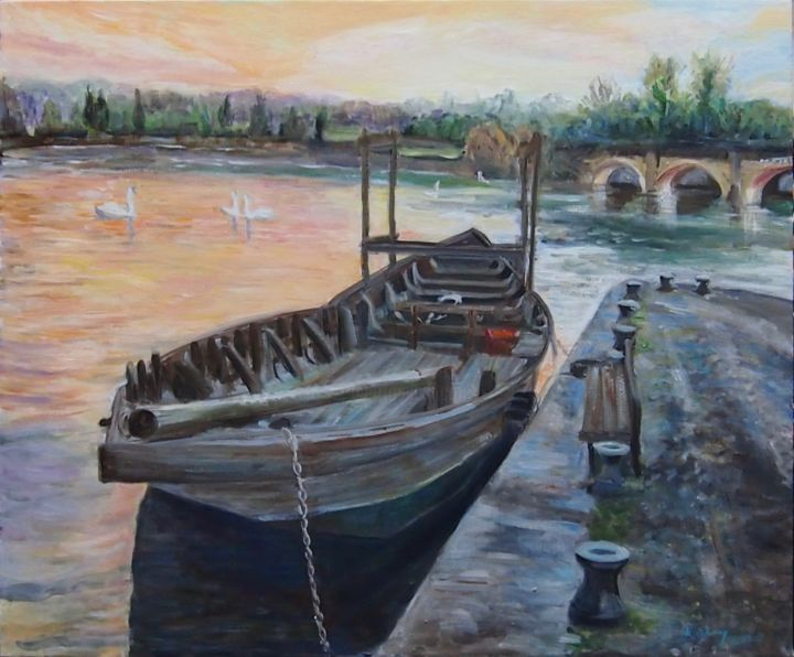 """Painting titled """"Swansong 2020"""" by Katie O'Looney, Original Art, Oil Mounted on Stretcher frame"""