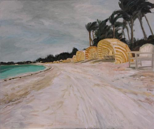 Lyford Cay Beach,Bahamas - Painting,  16x20 in, ©2007 by Katie O'looney -