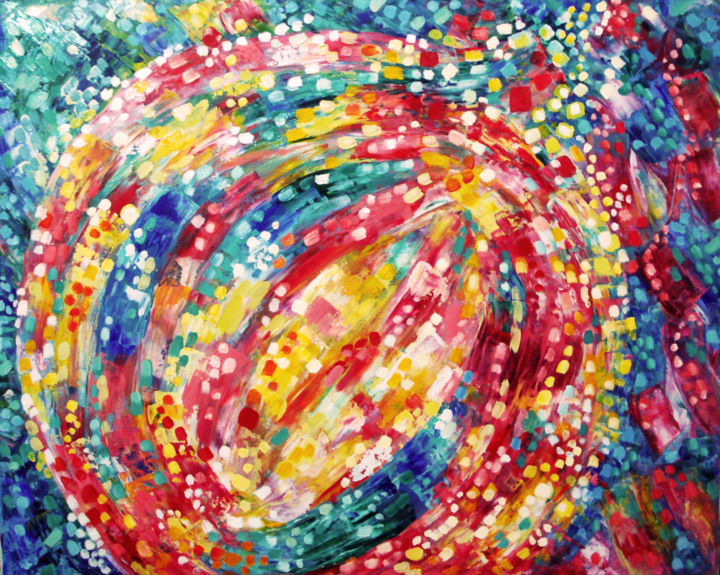 """Painting titled """"glowing-christmas.j…"""" by Katreen Queen, Original Art, Oil"""