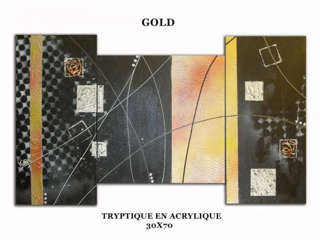 GOLD - Pittura,  11,8x27,6 in, ©2010 da kaÿa -                                                                                                                          Abstract, abstract-570