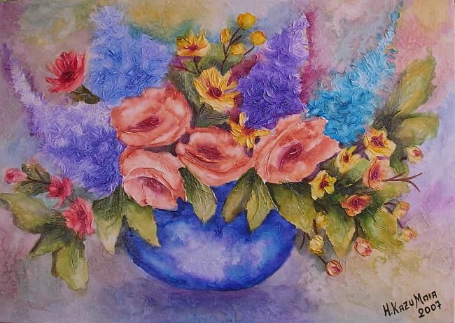 Vaso flores do campo - Painting,  40x60 cm ©2007 by H. Kazu Maia -