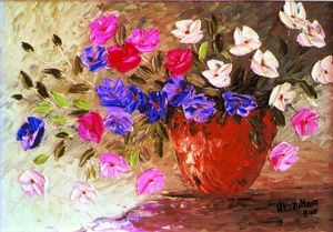 Vaso flores do campo - Painting,  60x40 cm ©2007 by H. Kazu Maia -