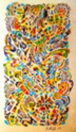 """Painting titled """"A Trip Through Inca…"""" by Kelly Billette, Original Art, Oil"""