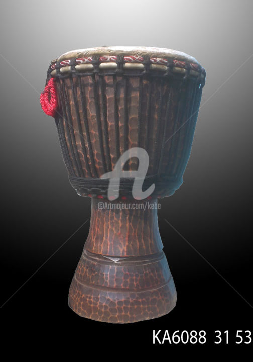 Tam Tam Djembe Instrument Musique Africain Percuss - Sculpture,  20.9x12.2 in, ©2016 by Kebe -                                                                                                                                                                                                                                                                                                                                                                                                                                                          Tribal Art, tribal-art-950, Wood, Culture, djembe, tam tam, percussion, baterie, afrique