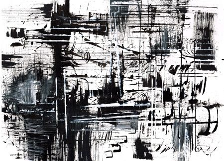 partition - Painting,  11.8x15.8 in, ©2011 by Keip -