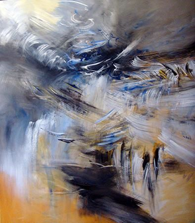 champs rythmiques - Painting,  51.2x39.4x0.4 in, ©2010 by Keip -
