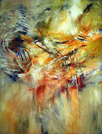 champs rythmiques - Painting,  74.8x59.1x0.4 in, ©2010 by Keip -