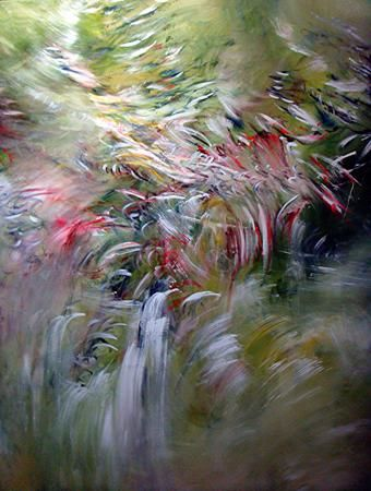 champs rythmiques - Painting,  74.8x59.1 in, ©2010 by Keip -