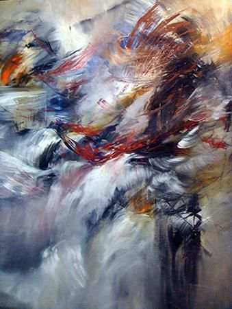 champs rythmiques - Painting,  74.8x63 in, ©2010 by Keip -