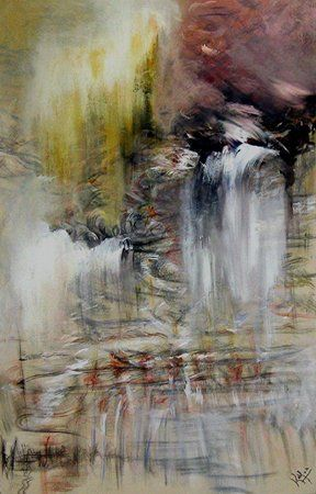 champs rythmiques - Painting,  78.7x51.2 in, ©2009 by Keip -