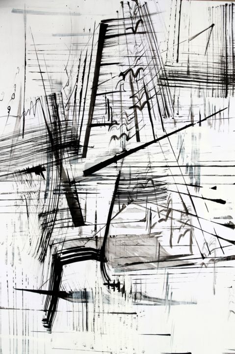 ecriture rythmiques - Drawing,  17.7x25.2 in, ©2012 by Keip -