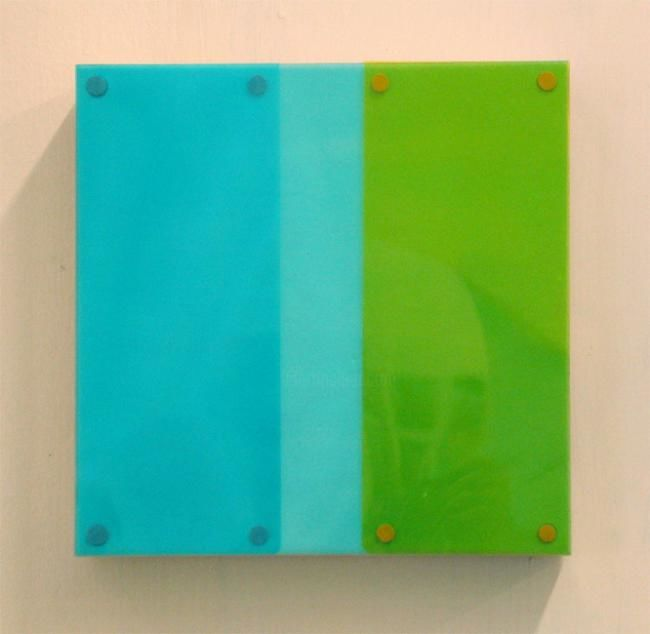 """Painting titled """"Untitled (blue/aqua…"""" by Keith Climpson, Original Art,"""