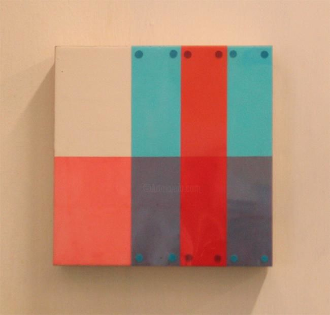 """Painting titled """"Untitled (blue/red…"""" by Keith Climpson, Original Art,"""