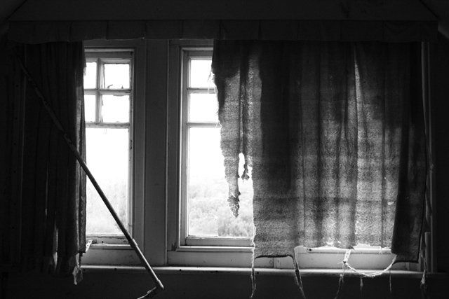 Where Did It All Go? - Photography,  5x7 in ©2010 by Nick Kelleher -            B&W photograph of a window