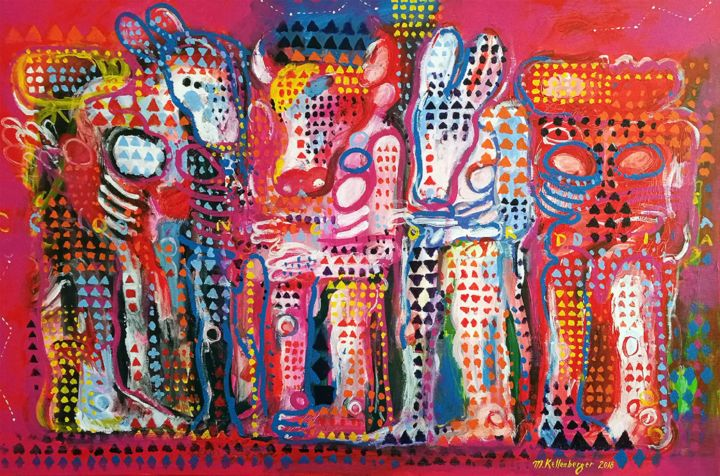 """Painting titled """"The capital"""" by Martin Kellenberger, Original Art, Acrylic"""